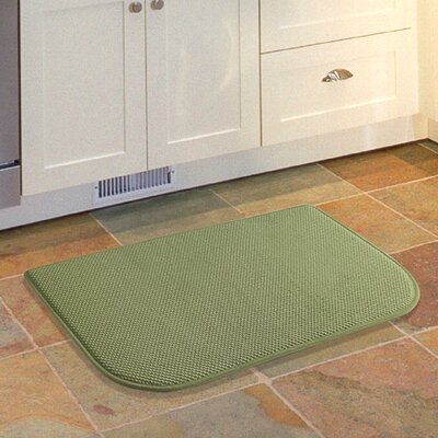 Lawrence Slice Kitchen Mat Color: Green