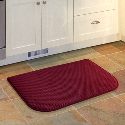 Lawrence Slice Kitchen Mat Color: Red
