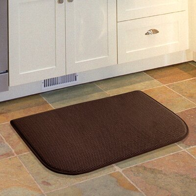 Lawrence Slice Kitchen Mat Color: Chocolate