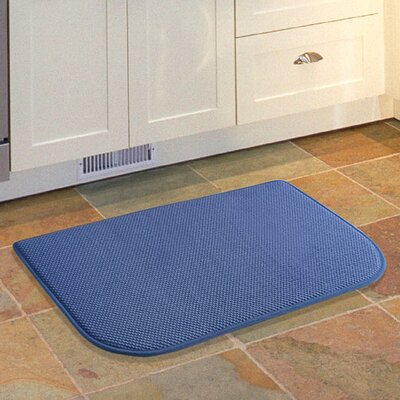Lawrence Slice Kitchen Mat Color: Blue