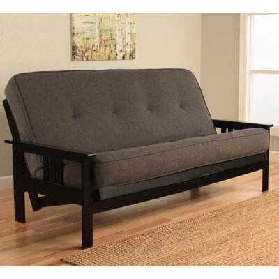 Leavittsburg Futon and Mattress Color: Charcoal