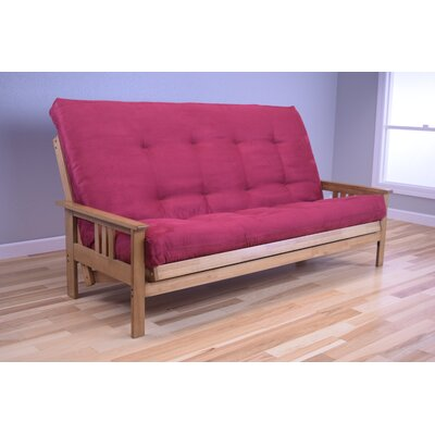 Leavittsburg Futon and Mattress Upholstery: Red