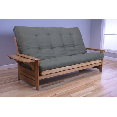 Lebanon Queen Futon and Mattress Upholstery: Suede Olive