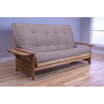 Lebanon Queen Futon and Mattress Upholstery: Suede Peat