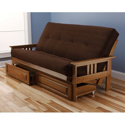 Leavittsburg Futon and Mattress Frame Finish: Butternut, Mattress Color: Chocolate