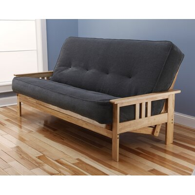 Leavittsburg Futon and Mattress Mattress Color: Thunder, Frame Finish: Natural