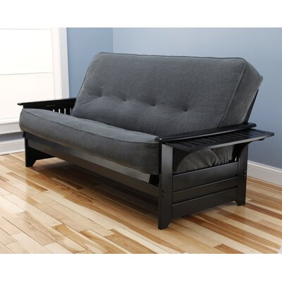 Lebanon Futon and Mattress Frame Finish: Black, Mattress Color: Thunder