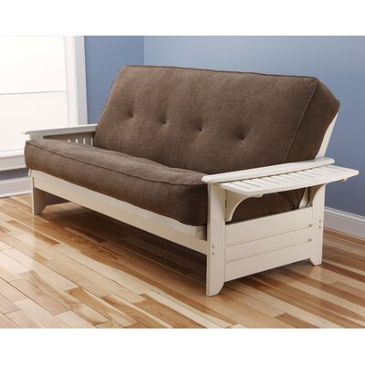 Lebanon Futon and Mattress Frame Finish: Antique White, Mattress Color: Mocha