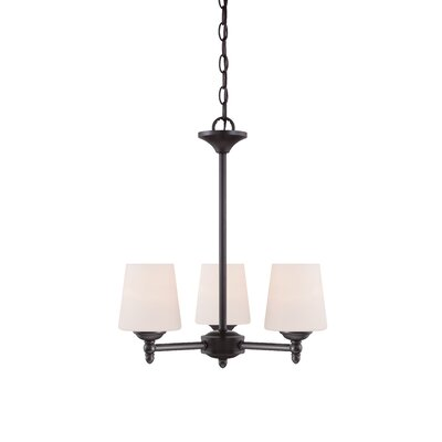 Lafrance 3-Light Shaded Chandelier Finish: Oil Rubbed Bronze