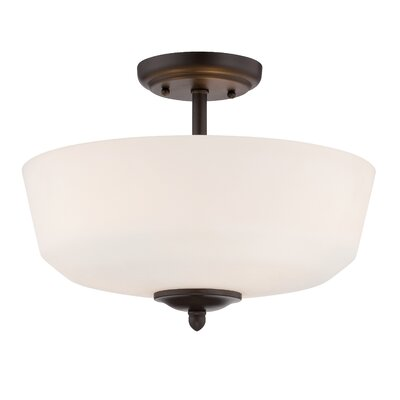 Lennox 3-Light Semi-Flush Mount Finish: Oil Rubbed Bronze