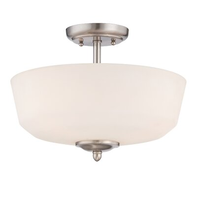Lennox 3-Light Semi-Flush Mount Finish: Brushed Nickel