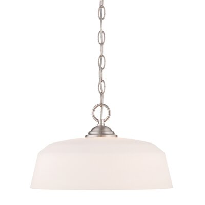 Lennox 1-Light Mini Pendant Finish: Brushed Nickel