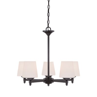 Lennox 5-Light Shaded Chandelier Finish: Oil Rubbed Bronze