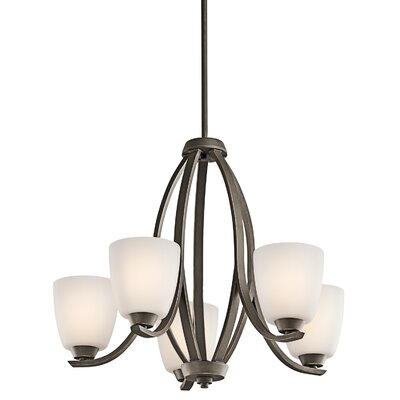 Surrey 5-Light Shaded Chandelier Finish: Olde Bronze