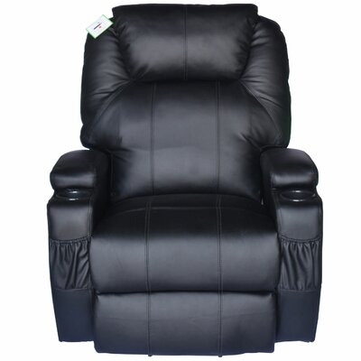 Lexington Deluxe Heated Vibrating Vinyl Leather Recliner
