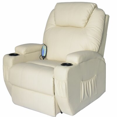 Lexington Deluxe Heated Vibrating PU Leather Massage Recliner