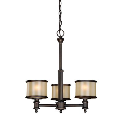 Limewood 3-Light Drum Chandelier