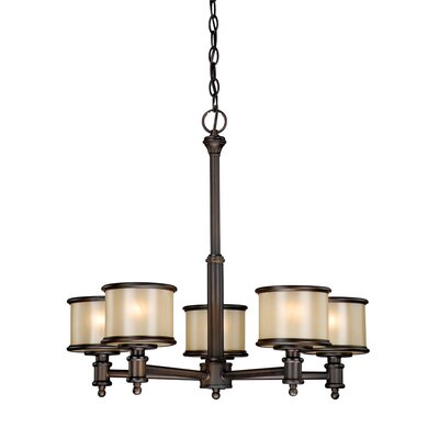 Limewood 5-Light Drum Chandelier