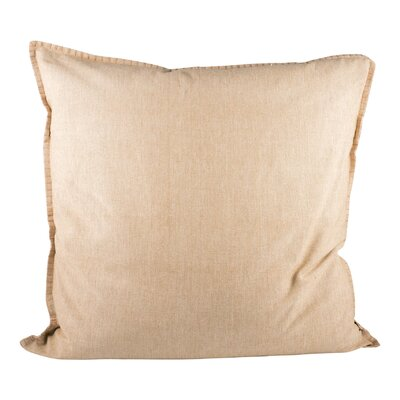 Baden Cotton Throw Pillow Color: Sand
