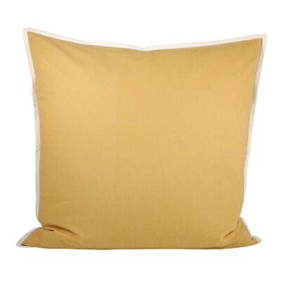 Bainsbury Cotton Throw Pillow Color: Dijon/White