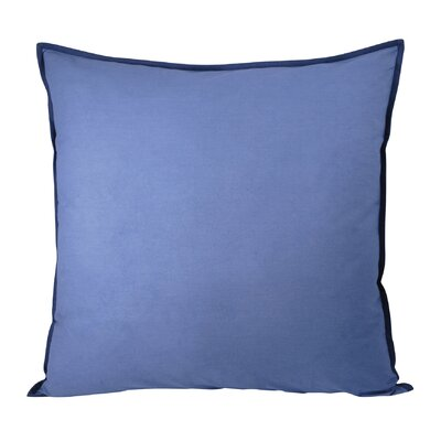 Bainsbury Cotton Throw Pillow Color: Navy/Blue