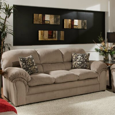 Plagido Sofa by Simmons Upholstery Upholstery: Cocoa