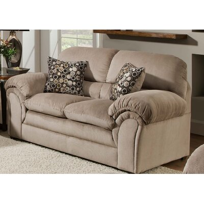 Plagido Loveseat by Simmons Upholstery Upholstery: Cocoa