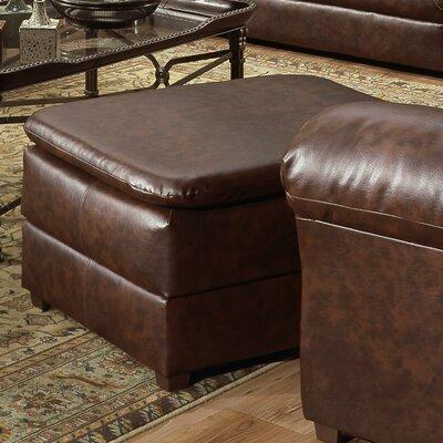 Pecan Street Ottoman Upholstery: Mahogany