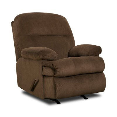 Plagido Recliner by Simmons Upholstery Upholstery: Umber