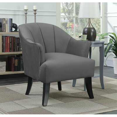 Gladstone Barrel Chair Upholstery: Charcoal