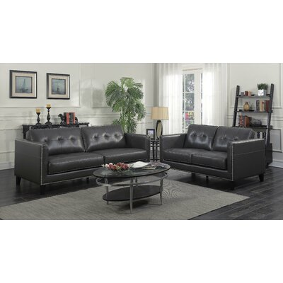 Glen View Loveseat Upholstery: Charcoal