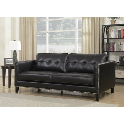 Glen View Sofa Upholstery: Black
