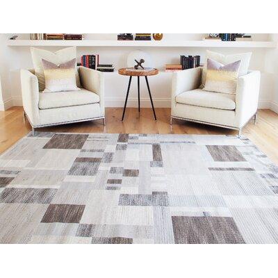 Glencoe Charcoal/Ivory/Grey Area Rug Rug Size: 710 x 112