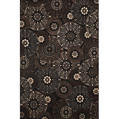 Glencoe Lundy Chocolate Area Rug Rug Size: 53 x 76