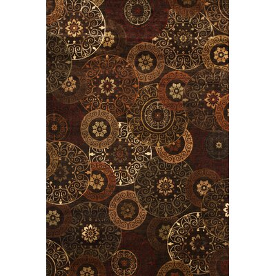 Glencoe Rust/Brown/Ivory Area Rug Rug Size: 53 x 76
