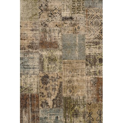Glencoe Beige/Brown/Green/Light Blue Area Rug Rug Size: 710 x 112