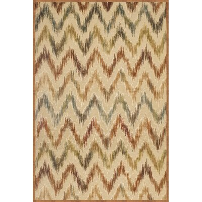 Glencoe Tan/Rust Area Rug Rug Size: Rectangle 710 x 112