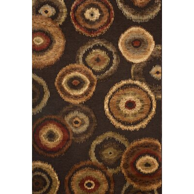 Glencoe Chocolate/Tan/Sage/Rust Area Rug Rug Size: 710 x 112