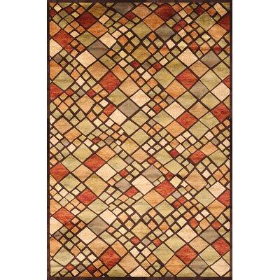 Glencoe Mosaic Rug Rug Size: 53 x 76