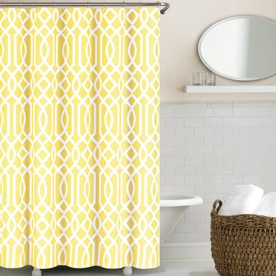 Glenmont Shower Curtain Color: Yellow