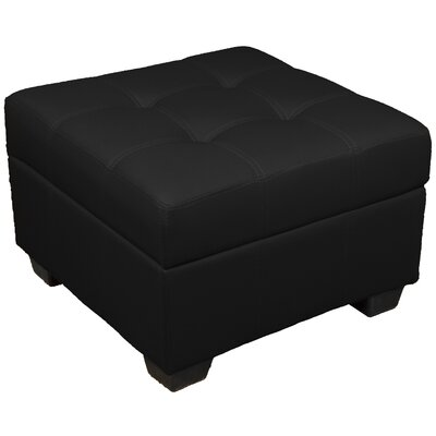 Grace Ottoman Upholstery Color: Leather Look Black
