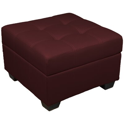 Grace Ottoman Upholstery Color: Leather Look Bordeaux