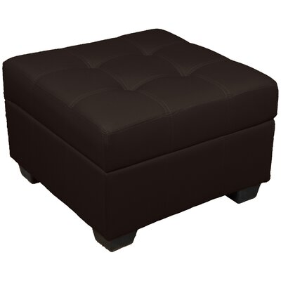 Grace Ottoman Upholstery Color: Leather Look Brown