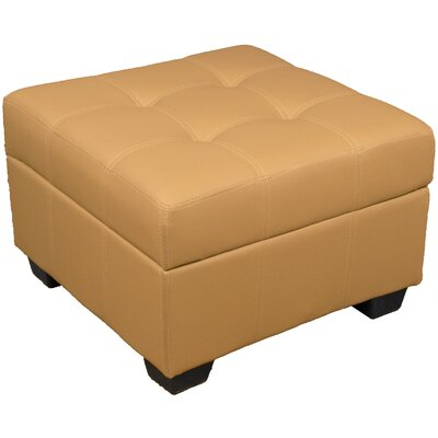 Grace Storage Ottoman Upholstery Color: Leather Look Buckskin