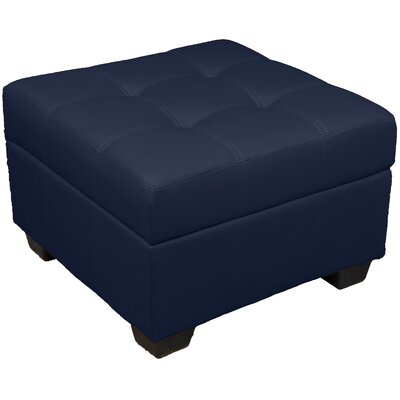 Grace Ottoman Upholstery Color: Leather Look Navy