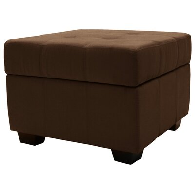 Grace Storage Ottoman Upholstery Color: Chocolate Brown