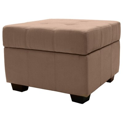 Grace Ottoman Upholstery Color: Mocha Brown