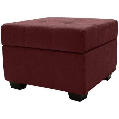 Grace Ottoman Upholstery Color: Wine Red