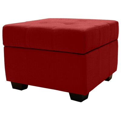 Grace Ottoman Upholstery Color: Cardinal Red