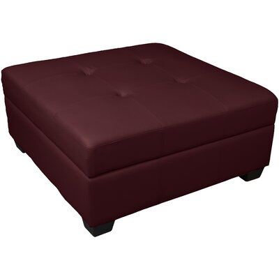 Grace Cocktail Ottoman Upholstery: Leather Look Bordeaux